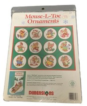 Dimensions Mouse-L-Toe Ornaments Mice Counted Cross Stitch Kit 8428 Sealed - $23.36