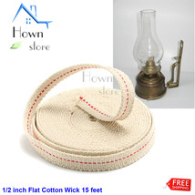 1/2 inch Flat Cotton Wick 15 feet Oil Lamp Lantern DIY Construction - $12.98