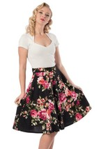 Flora Thrills Skirt High Waist w Pockets - in Black - L or 3X - Hey Viv ... - £35.02 GBP