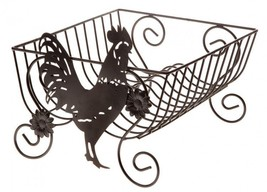 Rooster Dish Drying Rack Metal Drainer Kitchen ... - $45.00