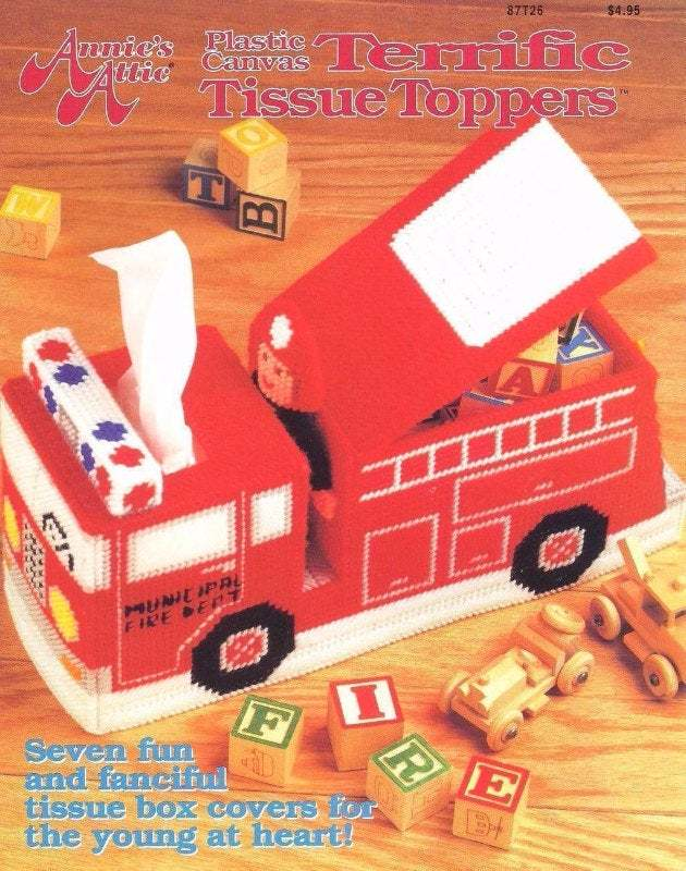 Primary image for Terrific Tissue Toppers Annie's Plastic Canvas Pattern Booklet 87T26 Fish & More
