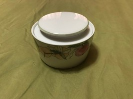 Block China Sugar Bowl with Lid Fruits Pattern Hard to find  SHIPS FREE - $14.84