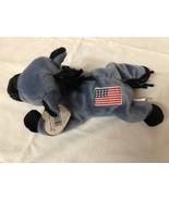 1996 TY Beanie Babies LEFTY the Patriotic Donkey Born 7-4-1996 w/Errors~... - $57.00