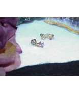 14K 4 Ruby 2 Diamond Spray Earrings 6mm Yellow Gold Post Stud New on Tag... - $267.29