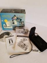 Vivitar ViviCam 3705 3.3MP Digital Camera - Silver, With Case,box,instru... - $18.69