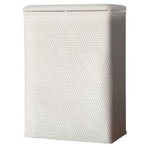 Lamont Home Carter Family Size Wicker Laundry Hamper with Coordinating P... - $51.85
