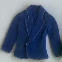 1975 Mattel Barbie Olympic Fashions #7244 Blue Blazer Jacket - $23.65