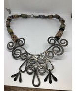 Vintage 600ms Hippie Afrikanischer Perle 925 Sterlingsilber Kragen-Halsk... - $261.01
