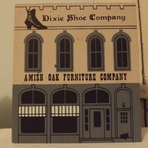 The Cats Meow 1987 Amish Oak Funiture Dixie Shoe Company - $8.99