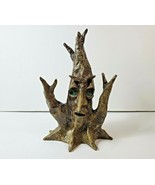 Hand Made Glazed Pottery Lord of the Rings Fantasy Face Tree Signed & Da... - $67.31