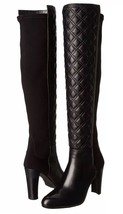 STUART WEITZMAN BOOTS Size 11 NEW Black Napa Over Knee Quilted Leather F... - $689.00