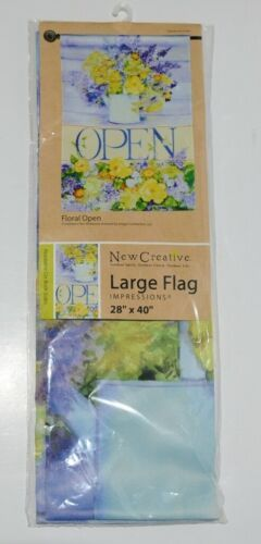 New Creative 26142 Floral Indoor Outdoor Garden Flag Open
