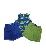 St. Eve Boys 3pc Sleep Set- Blue/Green Camo/Skull - £12.38 GBP