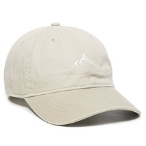 Outdoor Cap -Adult Mountain Dad Hat-Unstructured Soft Cotton Cap, Khaki,... - $23.95