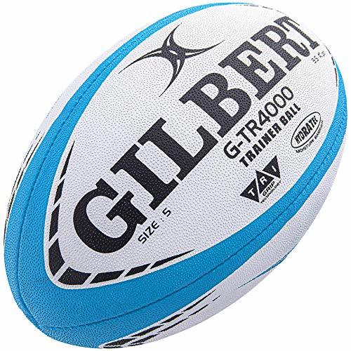 Gilbert G-TR4000 Rugby Training Ball, Sky Blue (3)