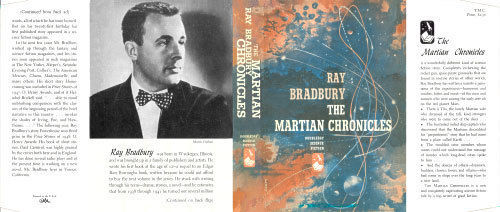 Ray Bradbury -THE MARTIAN CHRONICLES facsimile dust jacket for 1st edition book