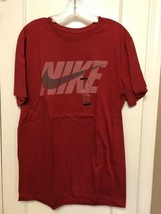 Nike  %100 COTTON SWOOSH Red LOGO RED T SHIRT LARGE  BNWTS - $15.83