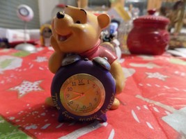 "Disney Winnie The Pooh ""Time FOR-MORE-HUNNY"" MINI-CLOCK-FANTASMA - $9.99"