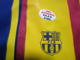 "LIONEL MESSI / AUTOGRAPHED ""FUTBOL CLUB BARCELONA"" PRO STYLE SOCCER JERSEY / COA image 7"