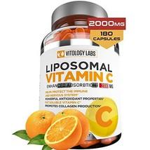 Vitology Labs Liposomal Vitamin C 2000mg - 180 Capsules –Ultra Potent High Absor