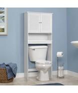 Bathroom Space Saver Toilet Shelves Bath Furniture Storage Cabinet Organ... - $113.99