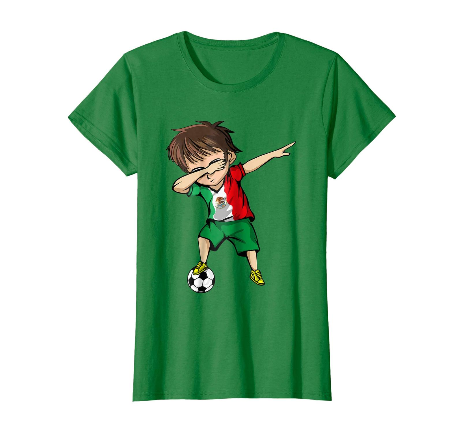 Brother Shirts - Dabbing Soccer Boy Mexico Jersey T-Shirt - Mexican Football Wow