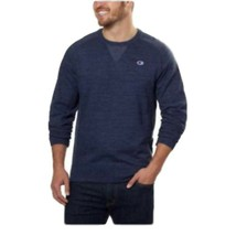 Champion Men's Textured French Terry Crew Sweatshirt XL Navy - $20.06