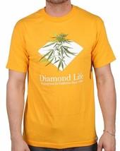 Diamond Supply Co Homegrown Weed Plant Diamond Life Gold Short Sleeve T-Shirt image 1