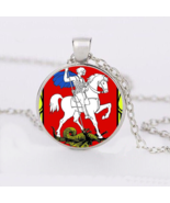 SLAYING THE DRAGON CABOCHON NECKLACE   #10008  >> COMBINED SHIPPING - $3.75
