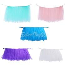150cm x 80cm Tulle Tutu Table Skirt Wedding Party Baby Shower Tablewear ... - $29.99
