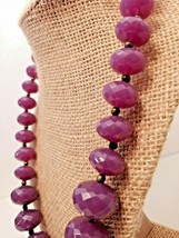 Vintage AVON Graduating Purple Plastic Faceted Bead Necklace! STUNNING! - $19.80