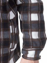 Visive Men's Zip Up Heavyweight Hoodie Soft Sherpa Lined Plaid Jacket - 4XL image 3