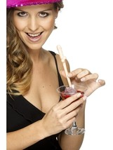 Dicky/Willy Sipping Straws Pink Pack of 10, Ladies Hen & Stag Night - $3.73