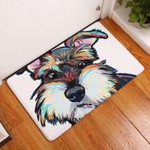 Flannel Dog Face Printed Bathroom Bedroom Bath Mat Floor Rug Carpet Non-... - $5.61+