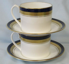 Aynsley Cobalt Royale Can Style Cup & Saucer Pair - $93.94