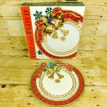Fitz & Floyd Christmas Deer Canape Plate Holiday Plate 2002 - $16.01