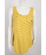 Soft Surroundings Women's Shirt Blouse Tiered Medium Yellow 100% Silk - $29.69
