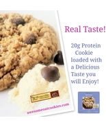 Awesome Oat Cookies 20g High Whey Protein Cookies, Chocolate Chip Fresh ... - $48.99