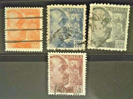 Spain Set of 4 Stamps Cancelled Free Shipping #002475 - $1.49