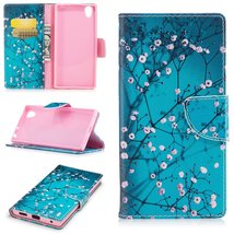 XYX Wallet Phone Case for Sony Xperia L1,[Plum Blossom][Kickstand][Card ... - $9.88