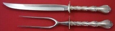 "Strasbourg by Gorham Sterling Silver Roast Carving Set 2-piece Knife 13"""