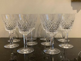 Vintage Waterford Crystal Alana Claret Wine Glasses Set of 10 - $225.00
