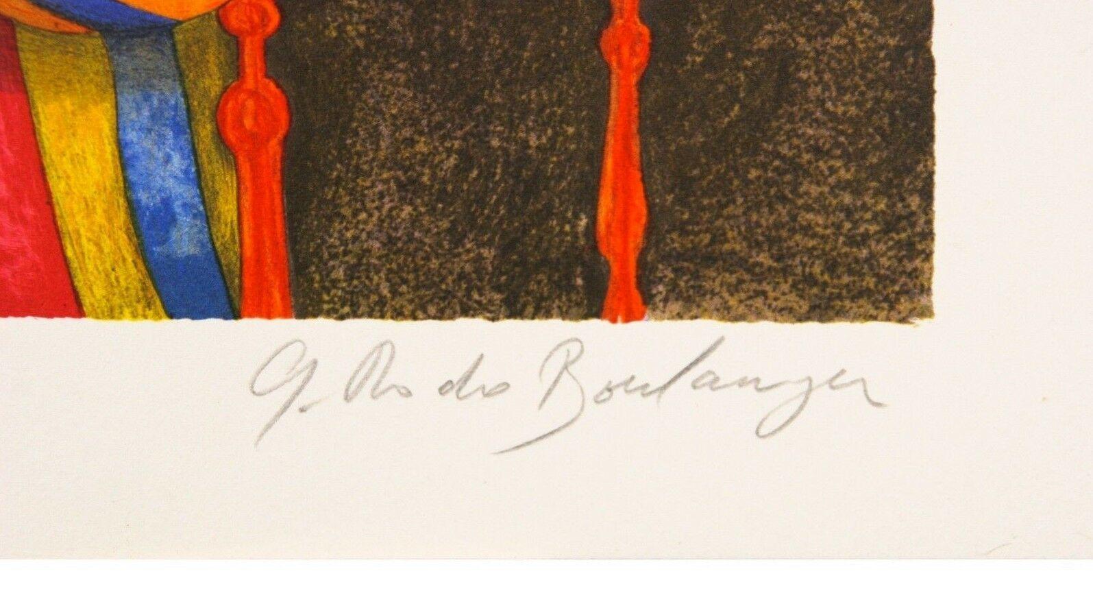 """"""" Musique pour les Yeux """" par Graciela Boulanger Lithographie sur Papier le de image 3"""