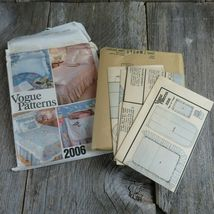 Vintage Vogue Bedspread Linen Sewing Pattern Bedroom Sham Pillow Bed Covers image 11