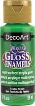 Americana Gloss Enamels Acrylic Paint 2oz-Festive Green - $5.87