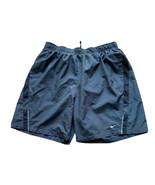 Men's Nike Dri-Fit Dark Gray Lined Briefs Running Shorts XL Pockets - $18.49