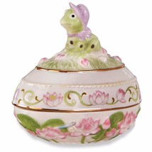 Lenox 2016 Frog Easter Egg Box Annual Trinket Springtime Lotus Flower An... - $36.00