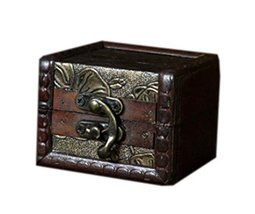 Fashionable Square Wooden Jewelry Box Cosmetic Case image 2