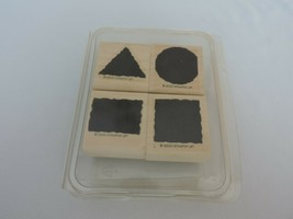 Stampin Up Little Shapes Mounted Stamp Set Triangle Square Circle Rectangle Four - $9.00
