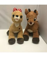 Lot of 2 Build A Bear Rudolph The Red Nosed Reindeer & Clarice Plush Stu... - $149.99